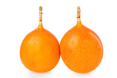 Granadilla. Isolated on white background Royalty Free Stock Photography