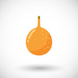 Granadilla  flat icon with round shadow Royalty Free Stock Images