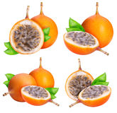 Granadilla fruit isolated on white background. With clipping path Stock Images
