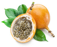 Granadilla fruits on a white. Royalty Free Stock Photo