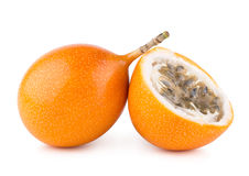 Granadilla. Ripe passion fruits (granadilla) on white Royalty Free Stock Photography