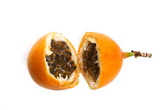 Granadilla. Sweet granadilla fruit on a white background Royalty Free Stock Photos