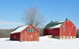 Granai #2 di inverno Fotografia Stock