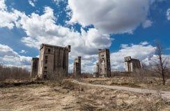 Granai abbandonati Immagini Stock Libere da Diritti