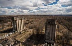 Granai abbandonati Fotografia Stock