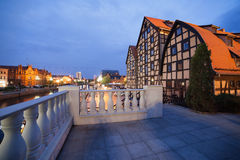 Granai in Bydgoszcz al crepuscolo Fotografia Stock Libera da Diritti