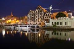 Granai in Bydgoszcz alla notte Fotografia Stock Libera da Diritti