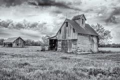 Granai del paese anziano Fotografia Stock