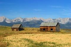 Granai norvegesi di stile 1700's nel Montana Immagine Stock Libera da Diritti