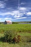 Granaio abbandonato, Nuovo Brunswick, Canada fotografia stock