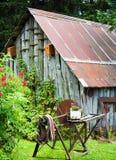 Granaio antico del paese Fotografia Stock Libera da Diritti