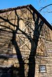 Granaio astratto dell'azienda agricola di Wisconsin, ombra Immagini Stock Libere da Diritti