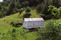 Granaio blu della strada panoramica del Ridge Immagini Stock Libere da Diritti