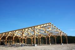 Granaio in costruzione Fotografia Stock Libera da Diritti