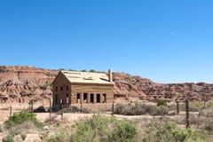 Granaio del bordo della strada nel deserto dell'Arizona. fotografia stock
