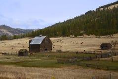 Granaio del paese Fotografie Stock