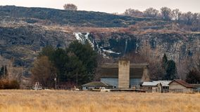 Granaio del paese in mille valli Idaho di Hagerman delle primavere Fotografia Stock