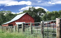 Granaio del ranch Immagini Stock Libere da Diritti