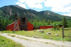 Granaio della montagna Fotografie Stock