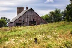 Granaio dello Iowa Fotografia Stock Libera da Diritti