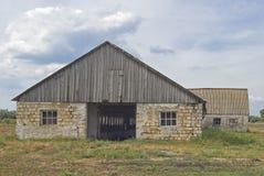 Granaio Desolated in Ucraina. Fotografie Stock