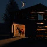 Granaio di cavallo Immagini Stock