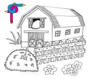 Granaio di immagine di coloritura Illustrazione Vettoriale