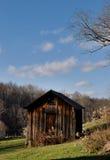 Granaio di legno nell'Ohio fotografia stock libera da diritti