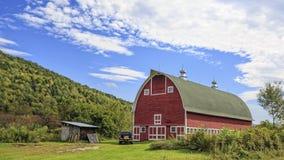 Granaio di rosso del Vermont Immagini Stock Libere da Diritti