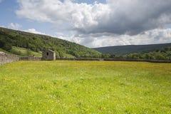 Granaio di Swaledale, sosta nazionale delle vallate del Yorkshire Immagine Stock Libera da Diritti