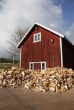 Granaio e legno Fotografie Stock