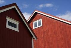 Granaio ed edificio attiguo a Frosta, Norvegia Immagine Stock