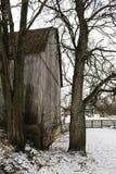 Granaio in inverno immagini stock libere da diritti