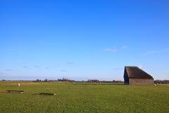 Granaio monumentale delle pecore su texel fotografia stock libera da diritti