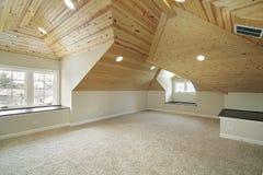 Granaio nella casa della nuova costruzione Fotografia Stock Libera da Diritti