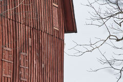 Granaio rosso Fotografia Stock Libera da Diritti