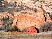 Granaio rosso della roccia Fotografia Stock Libera da Diritti