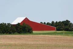 Granaio rosso di Kansas Fotografia Stock Libera da Diritti