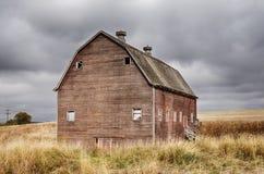 Granaio rosso di Oakesdale fotografia stock libera da diritti
