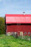 Granaio rosso rustico nel Michigan S.U.A. Immagini Stock Libere da Diritti