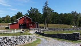 Granaio rosso Tennessee Fotografie Stock Libere da Diritti