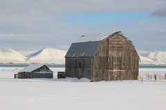 Granaio rustico del fieno dell'Utah Fotografie Stock Libere da Diritti