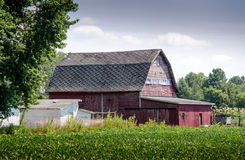 Granaio rustico del Michigan Fotografia Stock
