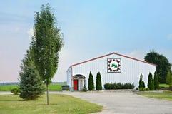 Granaio sempreverde della trapunta fotografia stock
