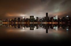 Granangular del horizonte de Nueva York Imágenes de archivo libres de regalías