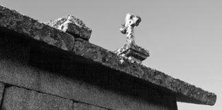 Granaries, Cross and Faith Royalty Free Stock Photo