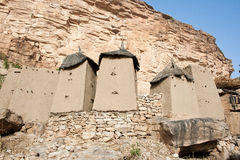 Granaries in a Dogon village, Mali (Africa). Stock Image