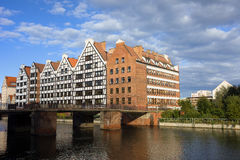 Granaries in Gdansk Royalty Free Stock Photography