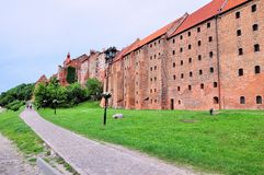 Granaries of Grudziadz at Wisla river in Poland Royalty Free Stock Photos