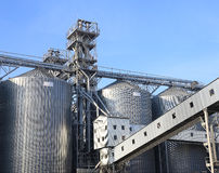 Granaries for storing wheat and other cereal grains. Royalty Free Stock Image